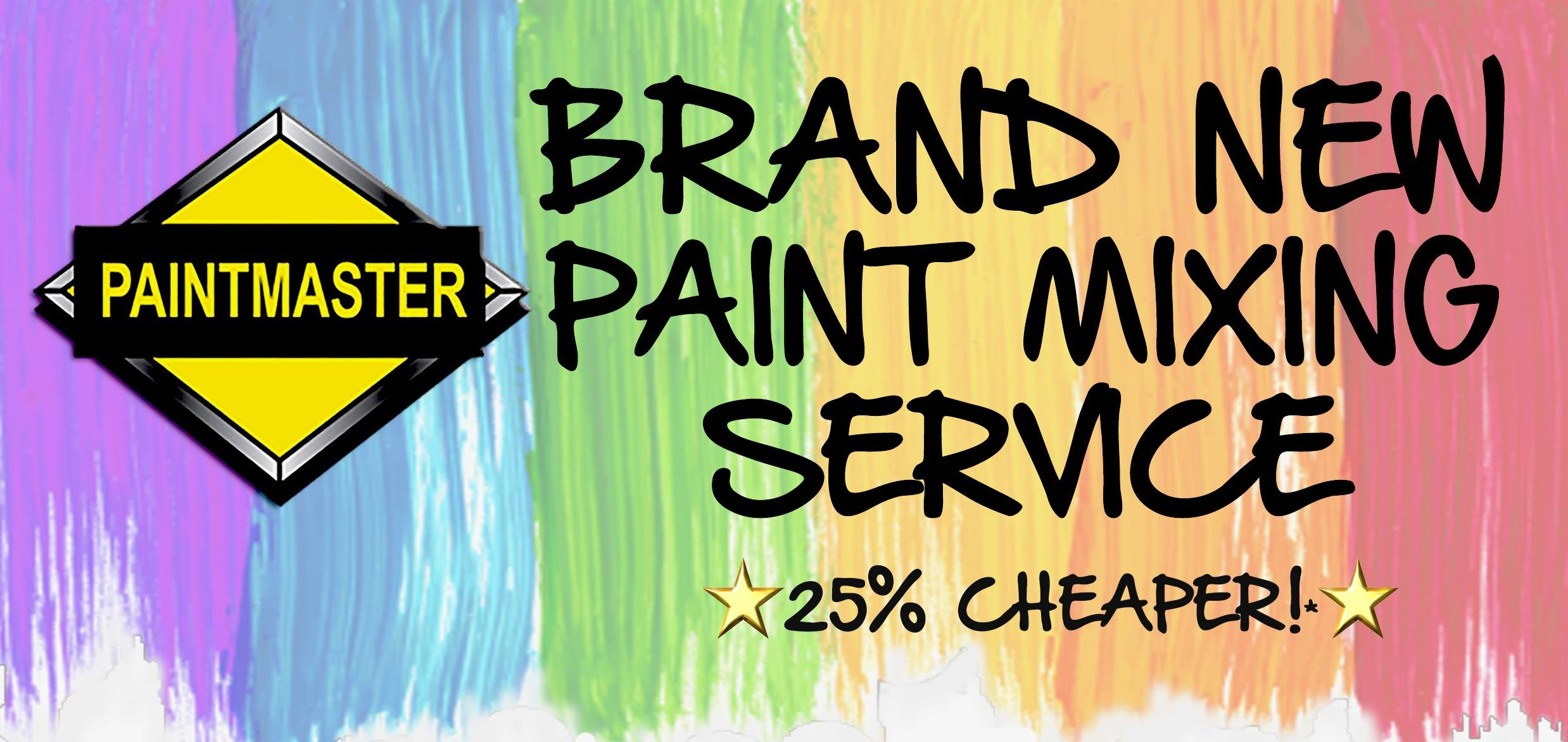 Brand New Paintmaster Paint Mixing Service 25% Cheaper
