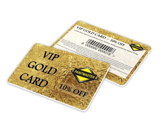 New Paintmaster GOLD CARD for Decorators